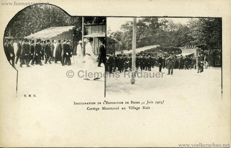 1903 Exposition de Reims - Inauguration de l'Exposition