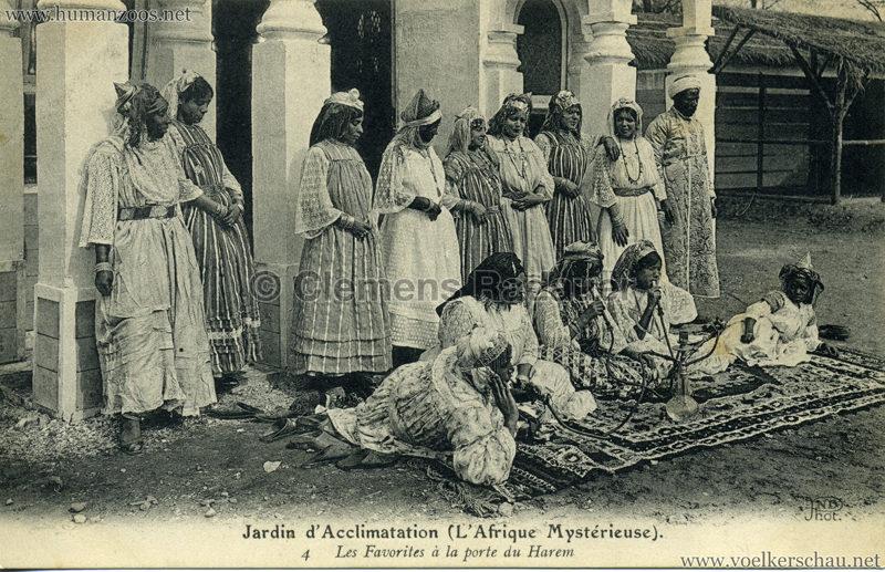1910 L'Afrique Mystérieuse - Jardin d'Acclimatation - 4. Les Favorites à la porte du Harem