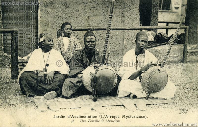 1910 L'Afrique Mystérieuse - Jardin d'Acclimatation - 48. Une Famille de Musiciens