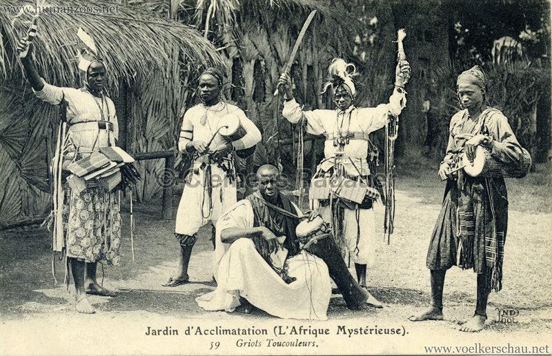1910 L'Afrique Mystérieuse - Jardin d'Acclimatation - 59. Griots Toucouleurs