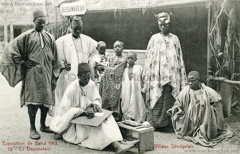1913 Exposition de Gand - Village Sénégalais - 12. Le Dessinateur