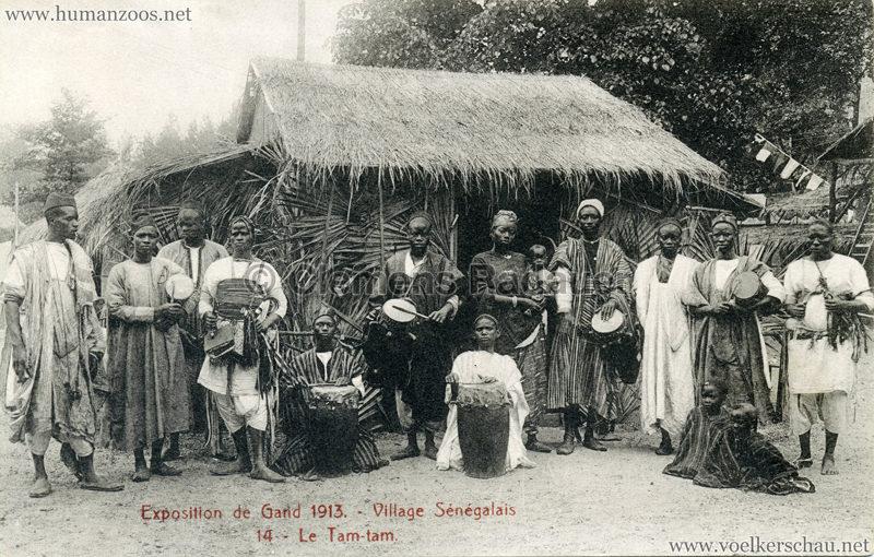1913 Exposition de Gand - Village Sénégalais - 14. Le Tam-Tam VS