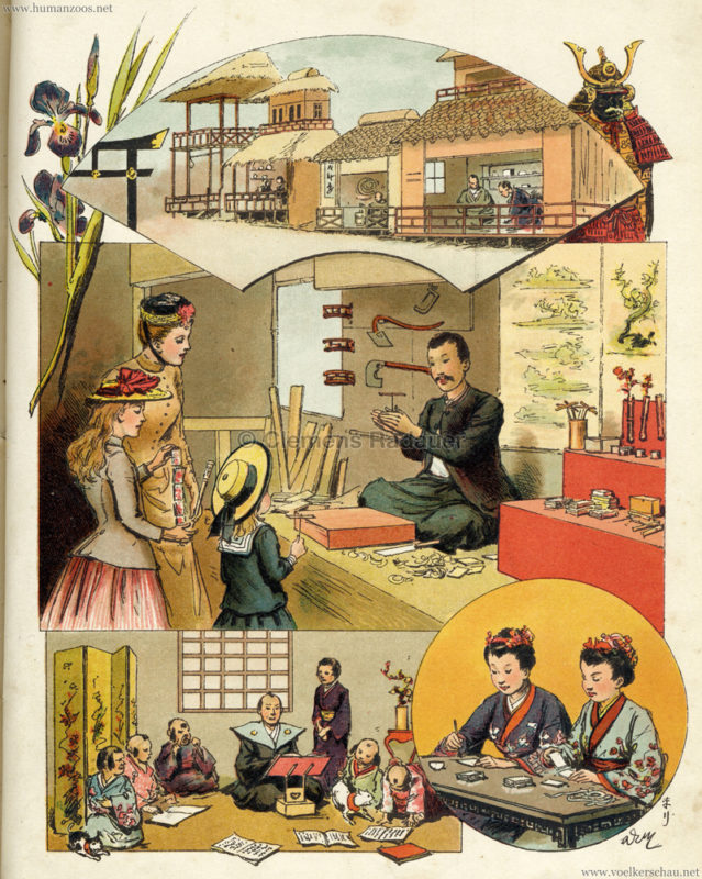 1889 A Travers l'Exposition - Le Village Japonais
