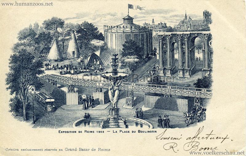 1903 Exposition de Reims - La Place de Boulingrin