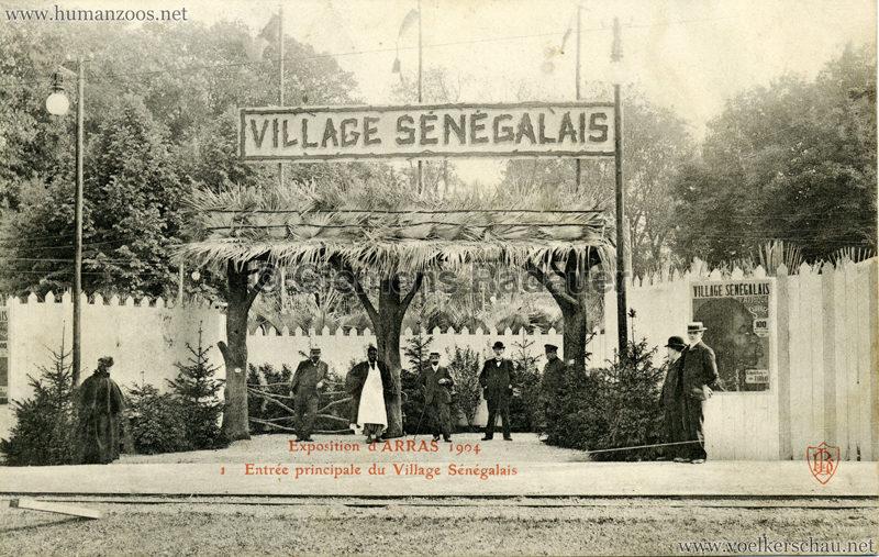 1904 Exposition d'Arras - 1. Entree principale du Village Senegalais