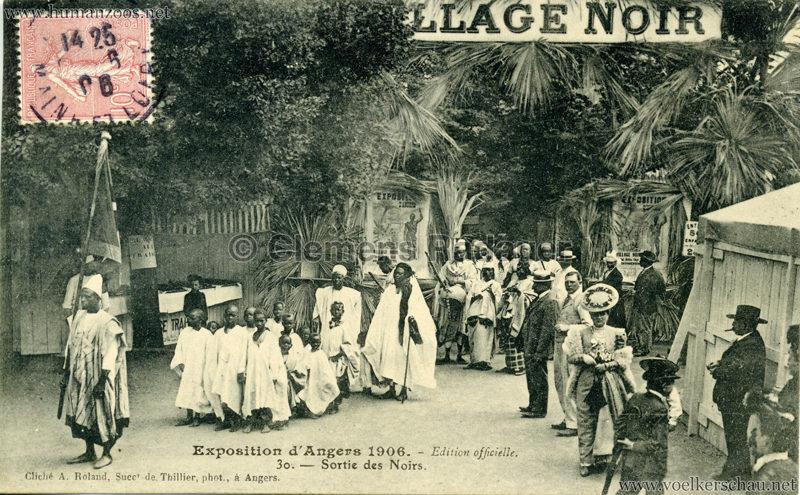 1906 Exposition d'Angers - 30. Sortie des Noirs VS