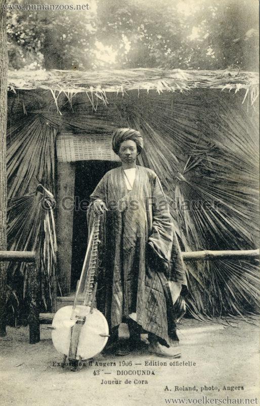 1906 Exposition d'Angers - 43. DIOCOUNDA - Joueur de Cora
