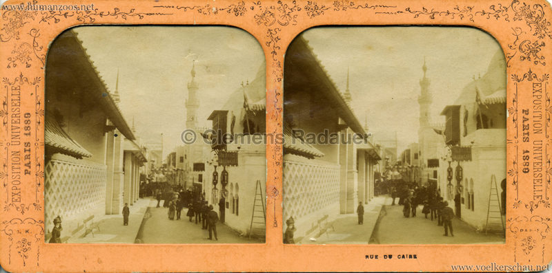 1889 Exposition Universelle Paris - Rue du Caire SCAN STEREO