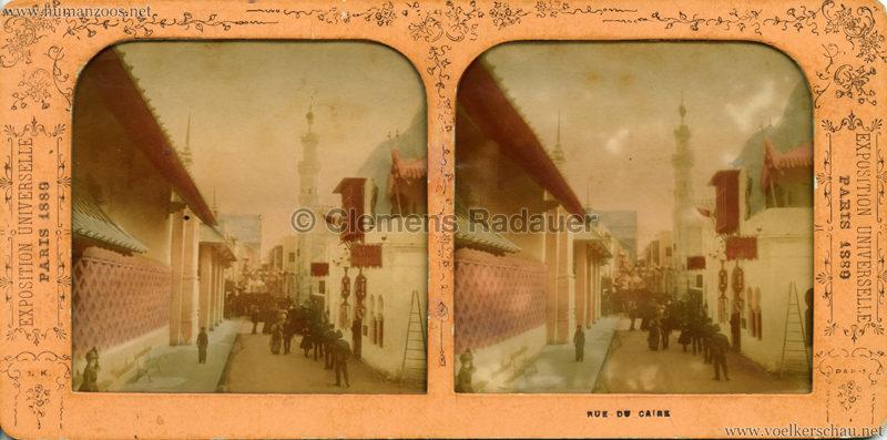 1889 Exposition Universelle Paris - Rue du Caire STEREO