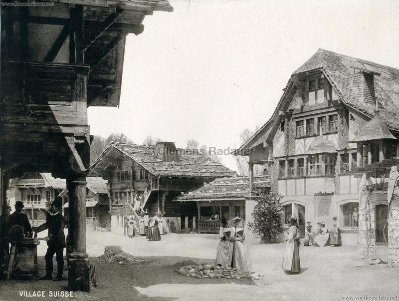 1896 L'Exposition Nationale Suisse Geneve - Village Suisse Boissonnas (???)