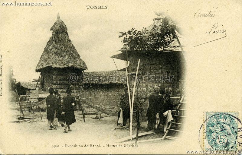 1902 Exposition de Hanoi - 1480. Huttes de Negritos