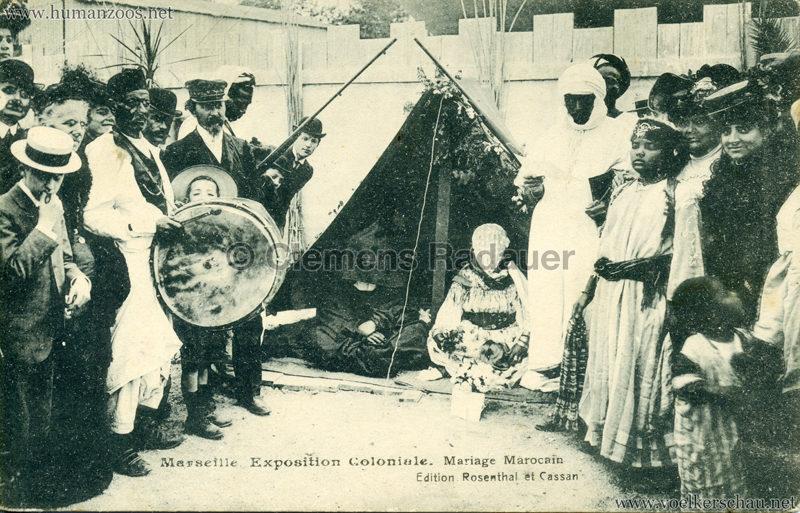 1906 Exposition Coloniale Marseille - Mariage Marocain