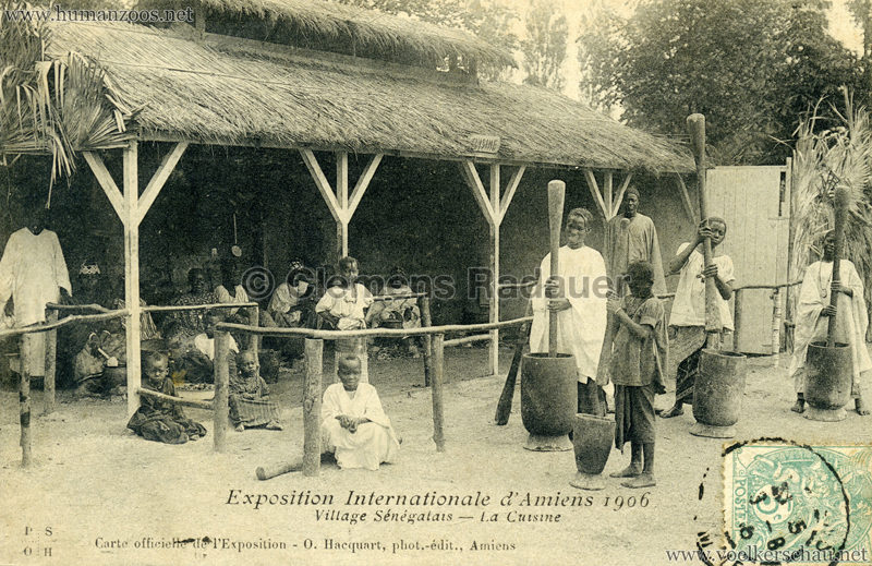 1906 Exposition Internationale d'Amiens - Village Sénegalais - La Cuisine