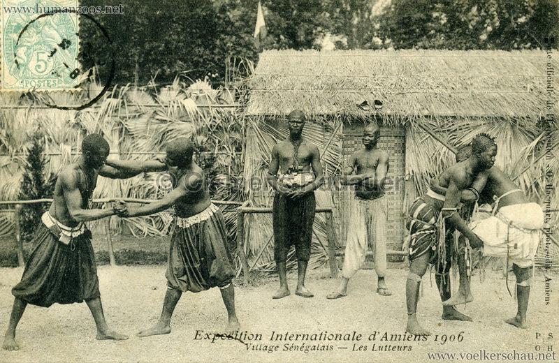 1906 Exposition Internationale d'Amiens - Village Sénegalais - Les Lutteurs