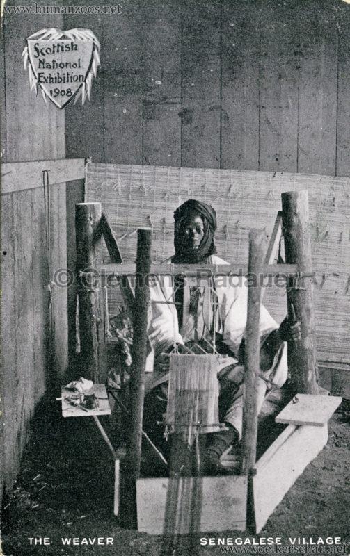 1908 Scottish National Exhibition - Senegalese Village - The Weaver