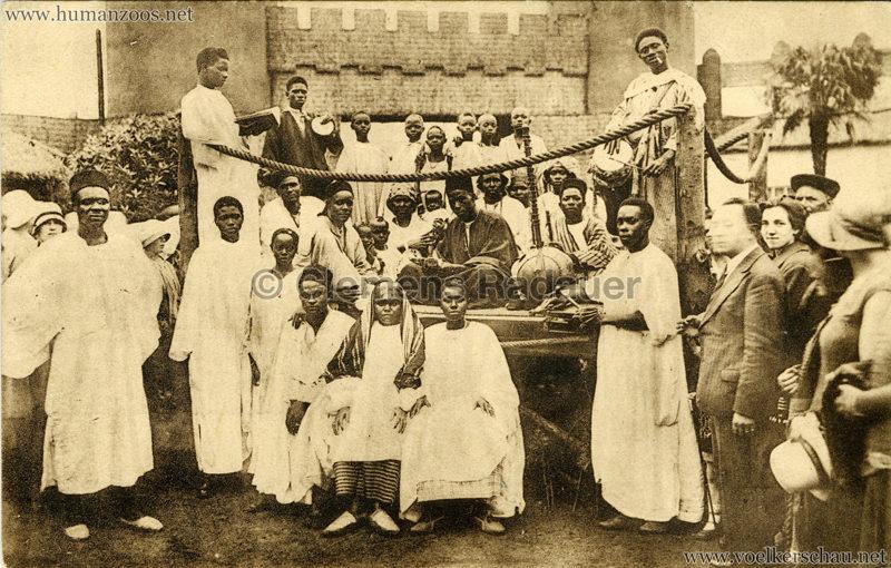 1930 Exposition d'Anvers - Village Africain - Un marriage noir