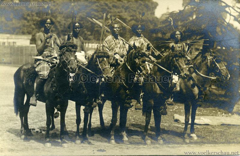 Hagenbeck Somalis - 5 Reiter