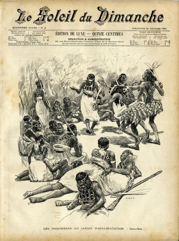 1891.02.22 Le Soleil du Dimanche - Les Dahomeens au Jardin d'Acclimatation 1