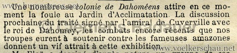 1891.02.22 Le Soleil du Dimanche - Les Dahomeens au Jardin d'Acclimatation 2