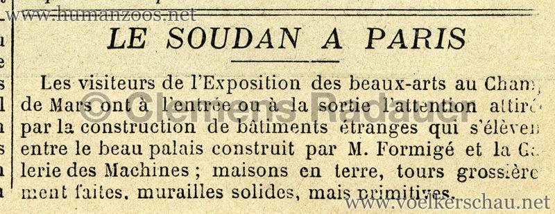 1895.06.23 Soleil du Dimanche - Soudan a Paris 1