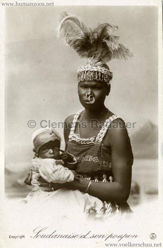 1898 Krieger-Truppe des Mahdi - Soudanaise et son poupon