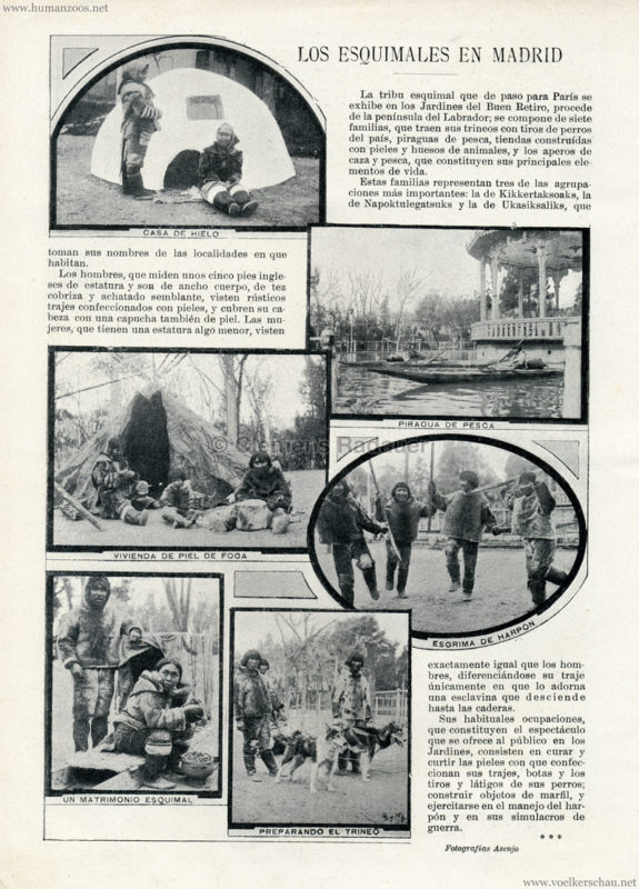1900.03.17 Blanco y Negro - Los Esquimales en Madrid