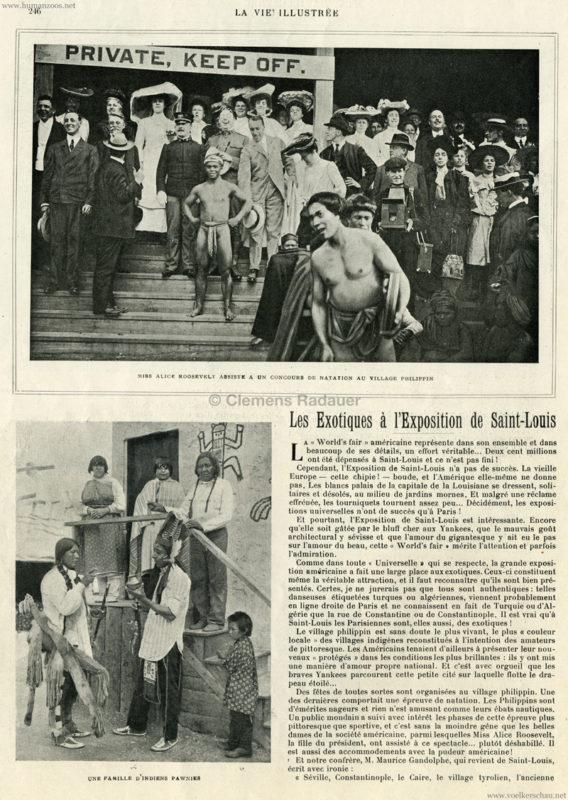 1904.07.15 La Vie Illustree - Les Exotiques a l'Exposition de Saint Louis 1
