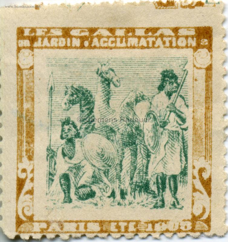 1908 Les Gallas - Jardin d'Acclimatation STAMP 1