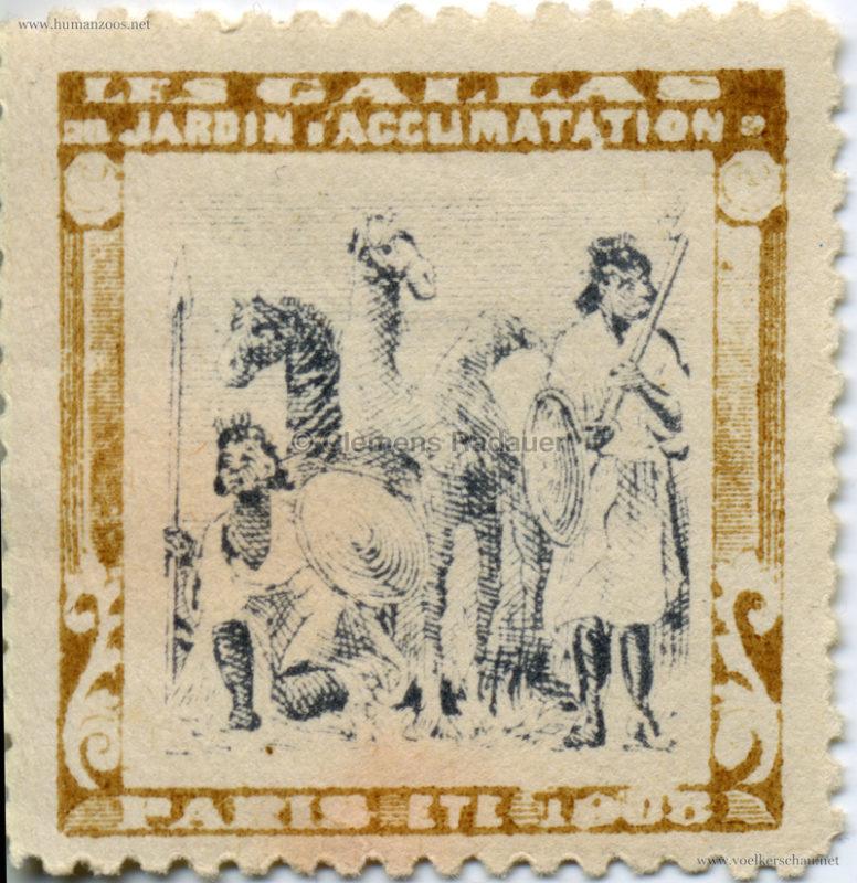 1908 Les Gallas - Jardin d'Acclimatation STAMP 2
