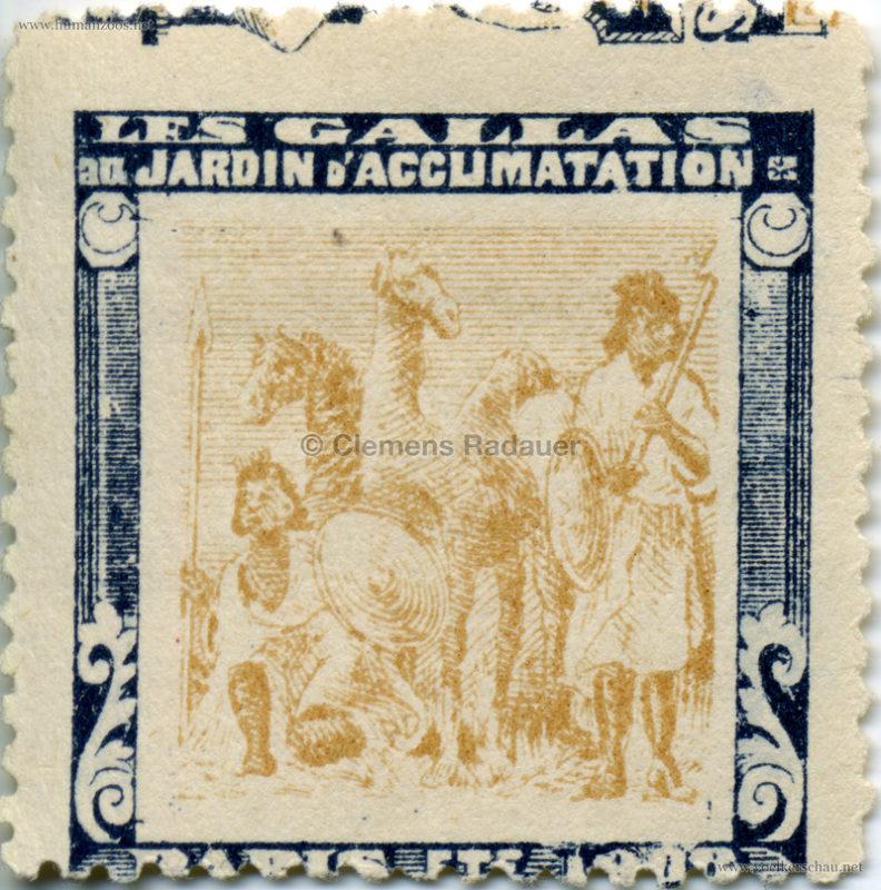 1908 Les Gallas - Jardin d'Acclimatation STAMP 3