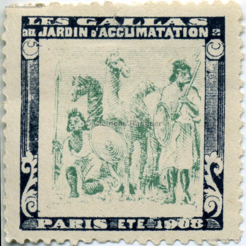 1908 Les Gallas - Jardin d'Acclimatation STAMP 4