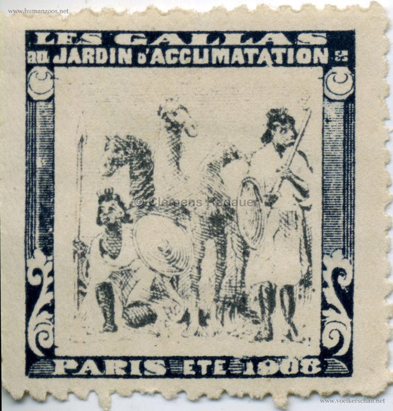 1908 Les Gallas - Jardin d'Acclimatation STAMP 5