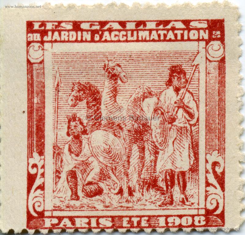 1908 Les Gallas - Jardin d'Acclimatation STAMP 6