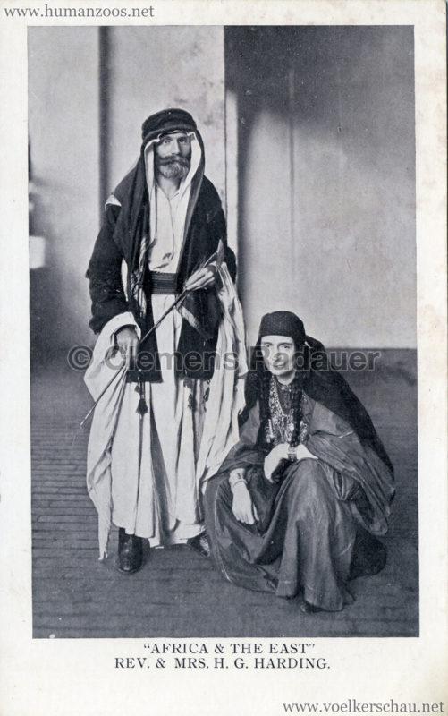 1909 Africa & The East Exhibition - Rev. & Mrs. H. G. Harding