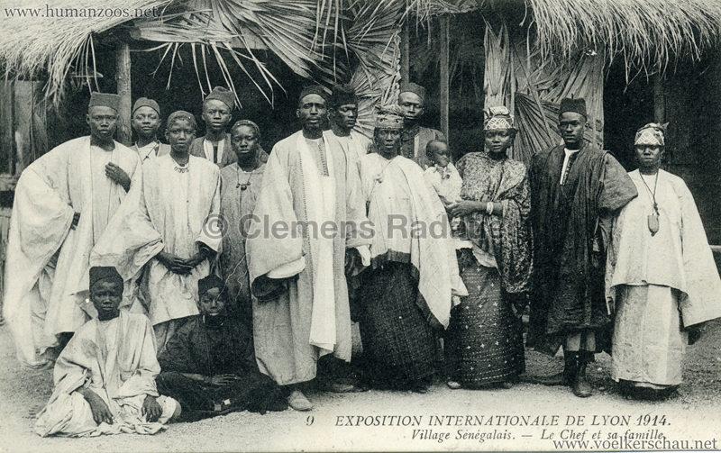 1914 Exposition Coloniale Lyon - Jardin & Village Sénégalais 9. Le Chef et sa Famille