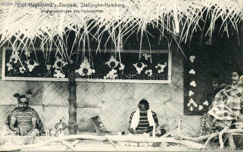 Singhalesentruppe des Ceylondorfes 190