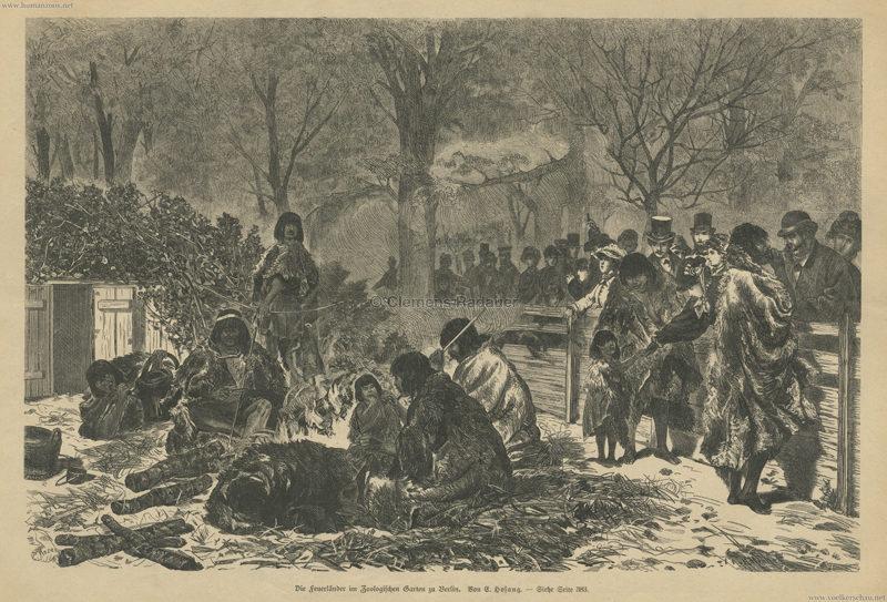 1881.11.28 Illustrirte Frauen-Zeitung Nr. 23 S. 377 - Die Feuerländer im Zoologischen Garten zu Berlin