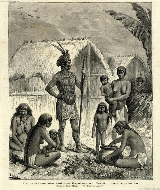 1882 La caravane des indiens Caraïbes au Jardin d'Acclimatation