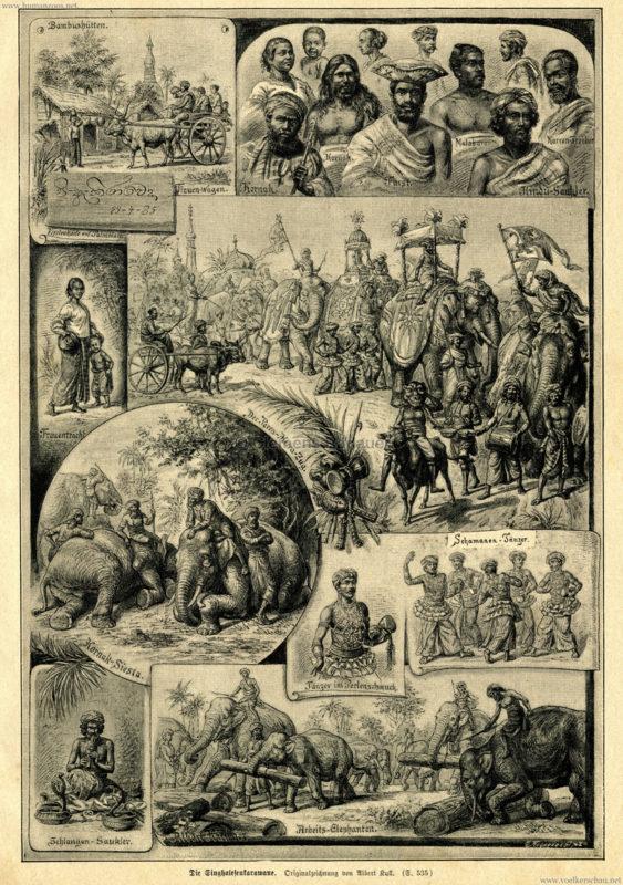 1885 Illustrirte Welt - Singhalesenkarawane