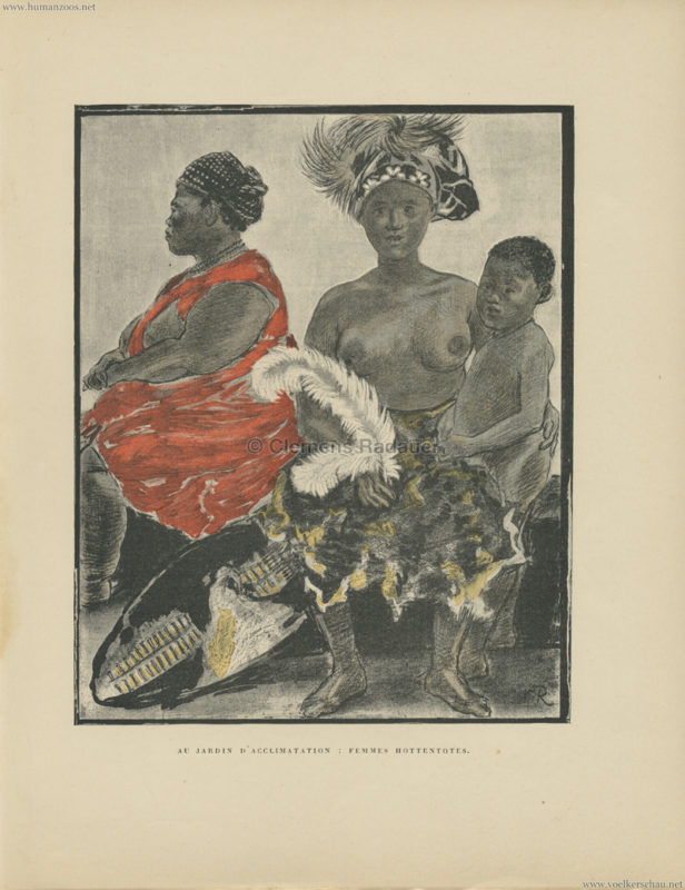1888 (?) Au Jardin d'Acclimatation - Femmes Hottentotes
