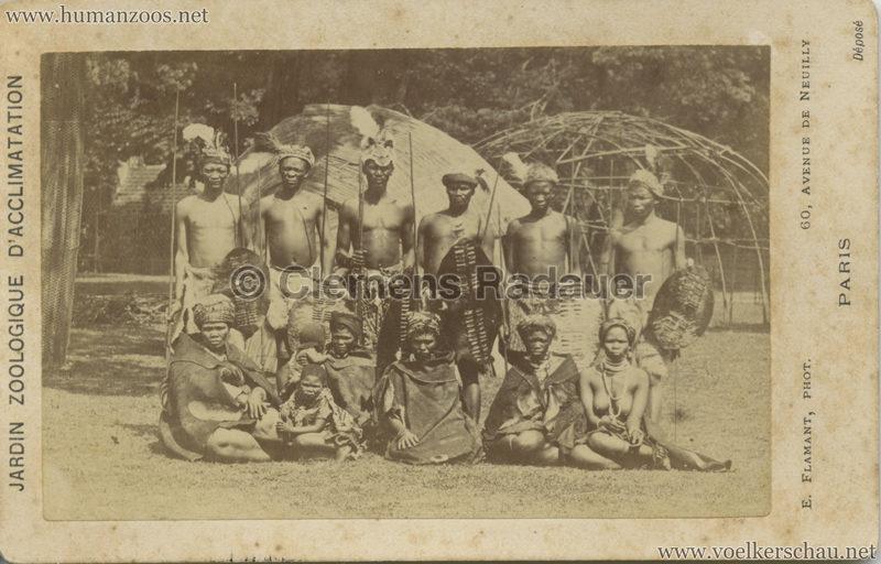1888 Jardin Zoologique d'Acclimatation - Types Hottentots CDV 2
