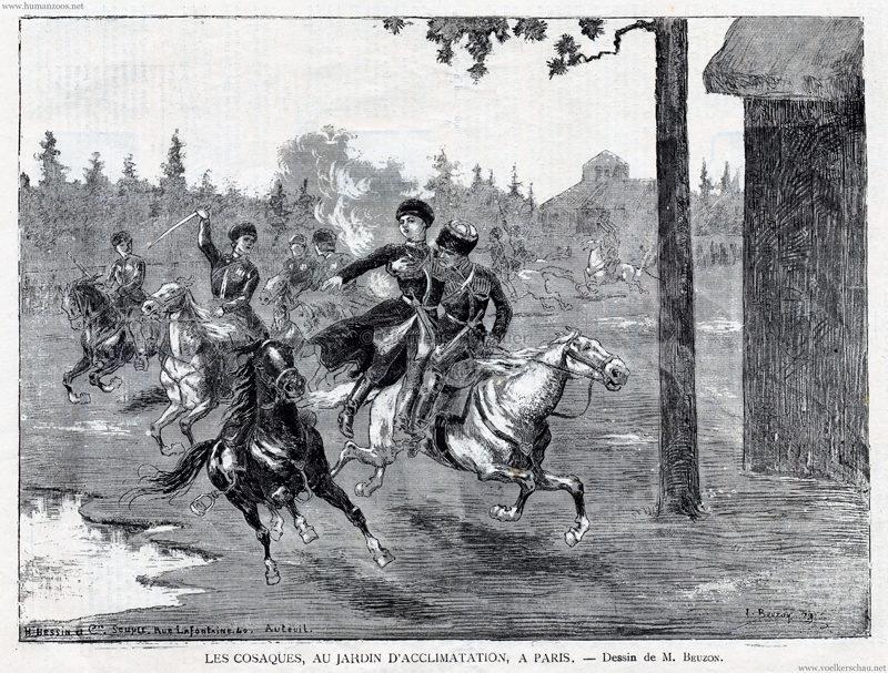1889.01.12 La France Illustrée No 737, S. 82 - Les Cosaques, au Jardin d'Acclimatation Detail