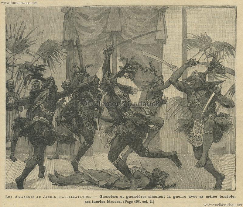 1891.03.29 Journal des Voyages - Les Amazones au Jardin d'Acclimatation 1