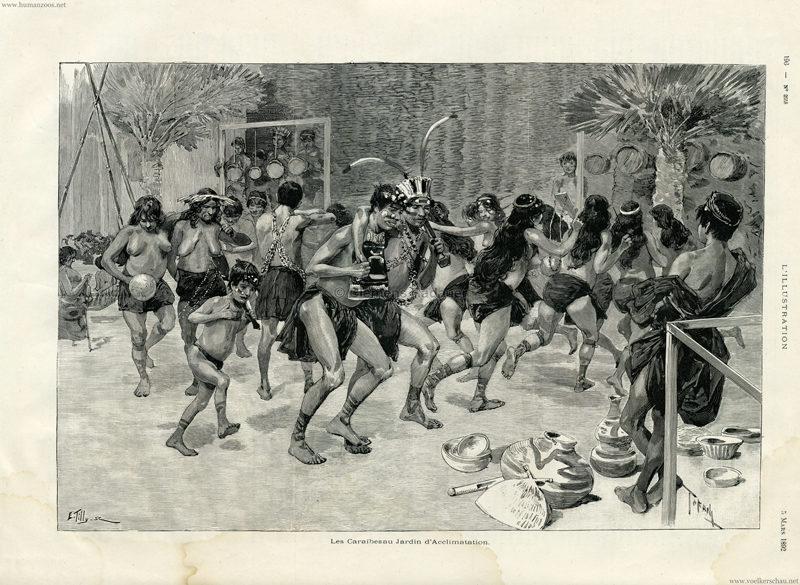 1892.03.05 L'Illustration - Les Caraibes au Jardin d'Acclimatation