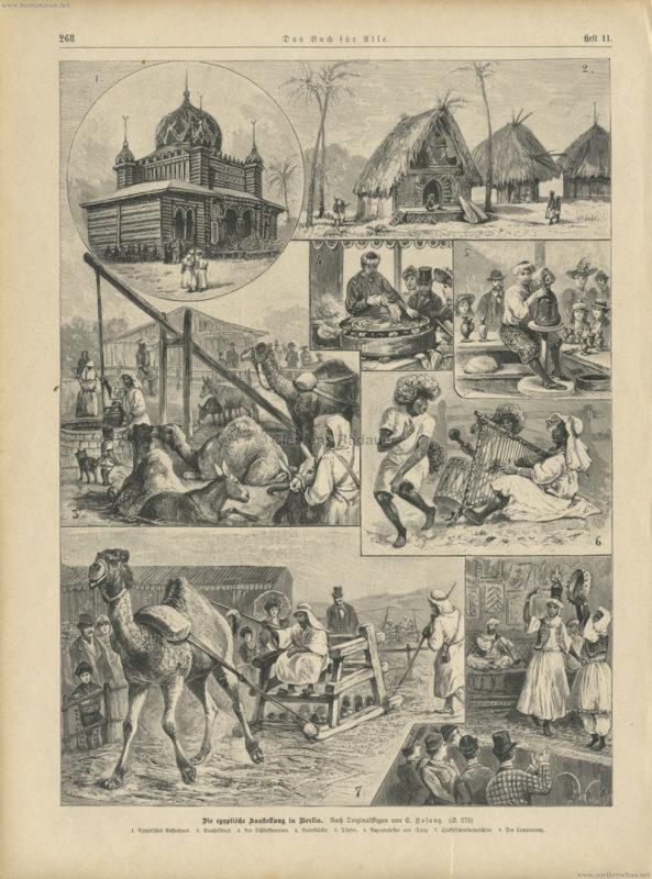 1893 Das Buch für Alle Heft 11 S. 267 - Die egyptische Ausstellung in Berlin