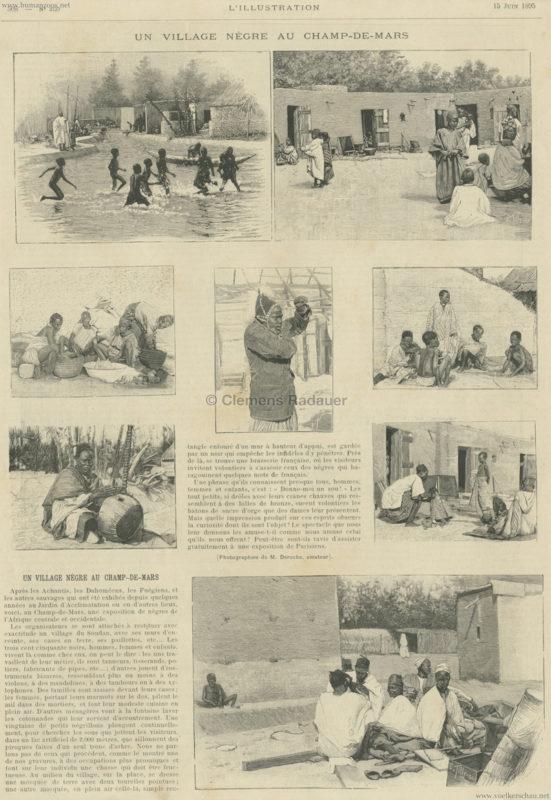 1895.06.15 L'Illustration N 2729 - Un Village Negre au Champs-de-Mars