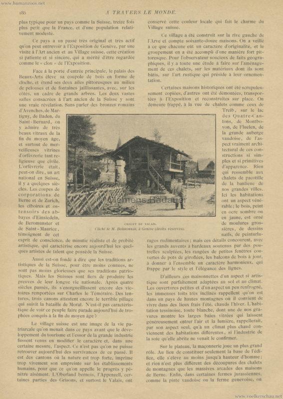 1896 A Travers le Monde - La Suisse à l'exposition de Genève 2