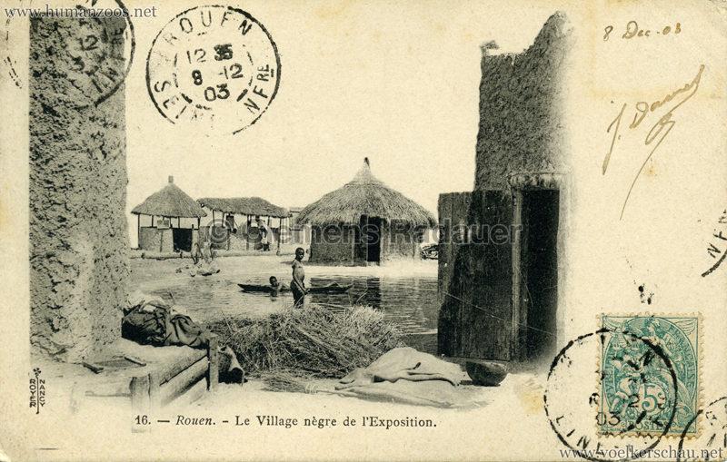 1896 Exposition de Rouen - Le Village Negre de l'EXposition