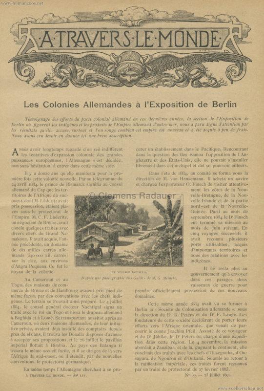 1896.06. A Travers le Monde - Les Colonies Allemandes a l'Exposition de Berlin 1