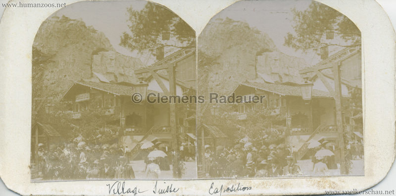 1900 Exposition Universelle - Village Suisse STEREO
